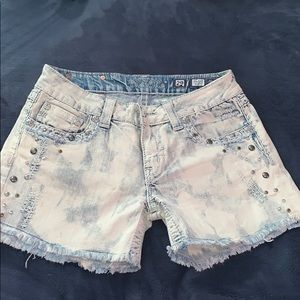 Miss me jean shorts with rhinestones